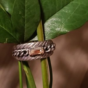 Sorrelli braided small stone ring
